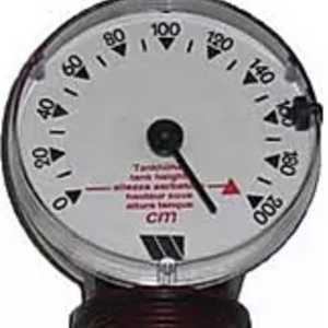 Visual float contents gauge image for oil tank